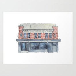 180B Oxford St Art Print