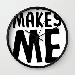 DECAF MAKES ME DEPRESSO T-SHIRT Wall Clock