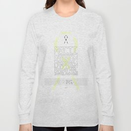 ASCII Ribbon Campaign against HTML in Mail and News – White Long Sleeve T-shirt