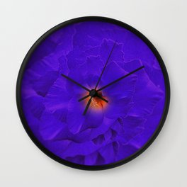 Sword Flower Purple Multiply Wall Clock