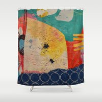 sharks Shower Curtains featuring Sharks  by Erica Field