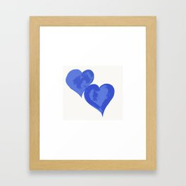 Two Hearts Framed Art Print