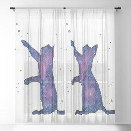 Galactic Cat Sheer Curtain