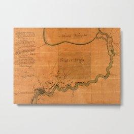 Lake Winnebago 1832 Metal Print