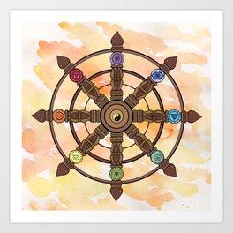 Buddhism Dharma Wheel Art Print