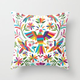 Mexican Otomí Design Throw Pillow