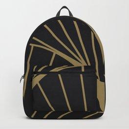 Diamond Series Round Sun Burst Gold on Charcoal Backpack