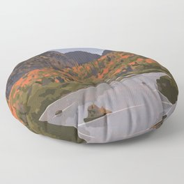 La Mauricie National Park Poster, Quebec Floor Pillow