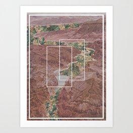 Floral Canyon Art Print