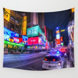 Times Square New York Wall Tapestry