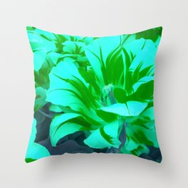 seafoam green tulips Throw Pillow