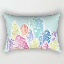 Crystals Green Rectangular Pillow