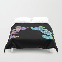 Love Is  Here  colorful watercolor Duvet Cover
