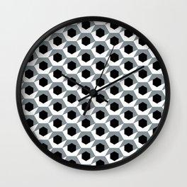 Hex shadow pattern  Wall Clock