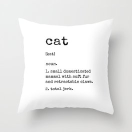Cat Definition Throw Pillow
