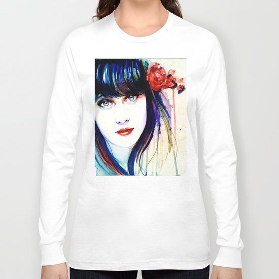 Zooey Watercolor Long Sleeve T-shirt
