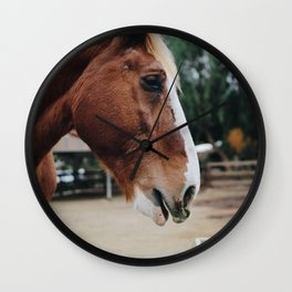 horse by Kelsey Knight Wall Clock