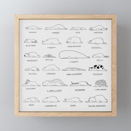 Moody Animals Pattern Framed Mini Art Print