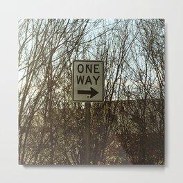 One way sign Metal Print