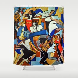 Salsa Salvaje Shower Curtain