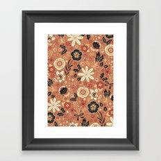 Festive Florals (Oranges) Framed Art Print