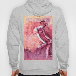The Dancer by Edgar Degas Peach Pink Hoody