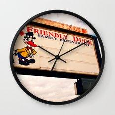 The Friendly Duck Restaurant Wall Clock