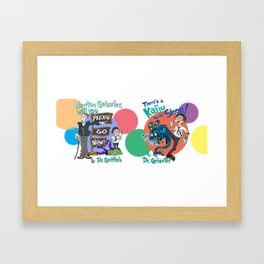 Pacific Rim K-Science, Dr. Seuss style! Framed Art Print