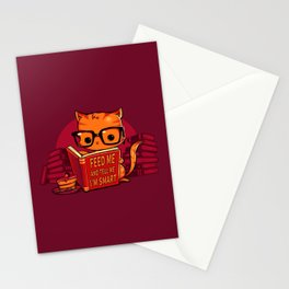 Feed Me And Tell Me I'm Smart Stationery Cards
