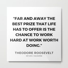 7    | 191118 | Theodore Roosevelt Quotes Metal Print