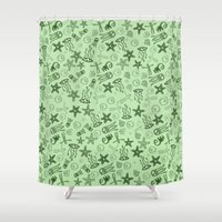 monster Shower Curtains featuring Monster by Tony Vazquez