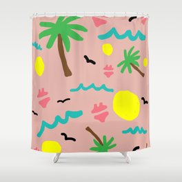 Beachy Keen By the Sea Shower Curtain