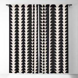 Maude Pattern - Black Blackout Curtain