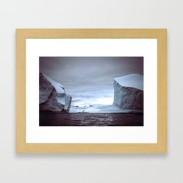 Icy scale Framed Art Print