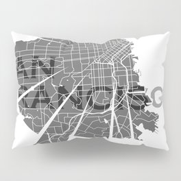 San Francisco Map Pillow Sham