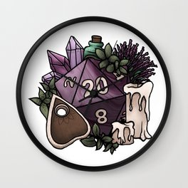 Witchy D20 Tabletop RPG Gaming Dice Wall Clock