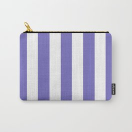 Toolbox violet - solid color - white vertical lines pattern Carry-All Pouch