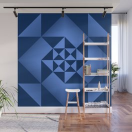 Abstract Triangles - Sapphire Wall Mural