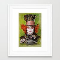 mad hatter Framed Art Prints featuring Mad Hatter by Melanie D