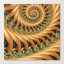 Fractal Splendor, Modern 3D Art Canvas Print