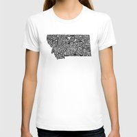 montana T-shirts featuring Typographic Montana by CAPow!