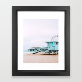 Santa Monica Pier Lifeguard Framed Art Print