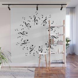 Musical notes Wall Mural