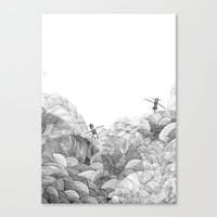 swim Canvas Prints featuring Swim by Nelle