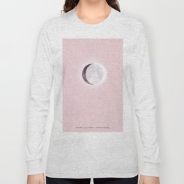 White Eclipse Pink Moon Long Sleeve T-shirt