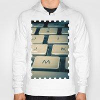 mac Hoodies featuring Mac Keyboard by Mauricio Togawa