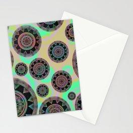 Holographic Floating Mandala Boho Stamp Print Stationery Cards