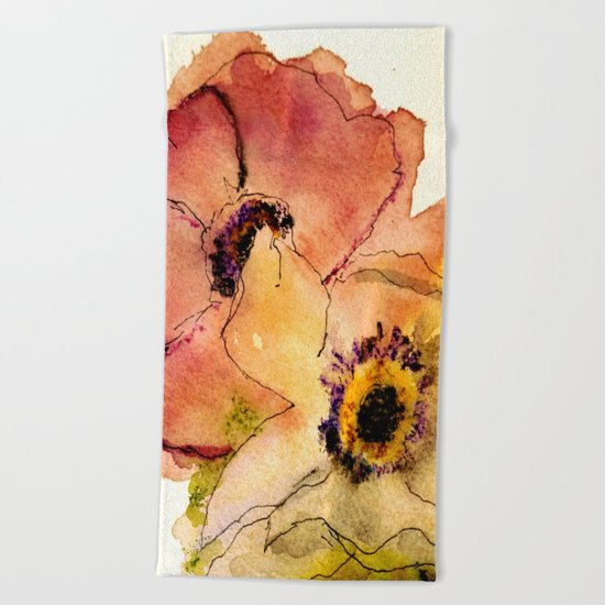 miracle flowers Beach Towel