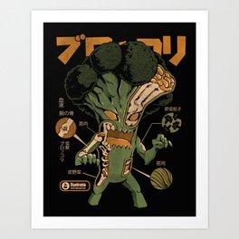 Broccozilla X-ray Art Print
