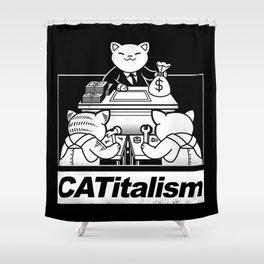 CaTitalism Shower Curtain